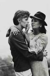David Bowie; Dame Elizabeth Taylor, by Terry O'Neill, 1975 - NPG  - © Iconic IMages/Terry O'Neill