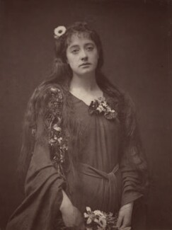 Florence Gerald as Ophelia in 'Hamlet', by Unknown photographer - NPG Ax7634