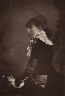 Sarah Bernhardt, probably by W. & D. Downey, 1879 - NPG Ax7668 - © National Portrait Gallery, London