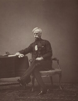 Sir John Hare as Colonel Gaunt in 'The Queen's Shilling', by Unknown photographer, 1879 - NPG Ax7704 - © National Portrait Gallery, London