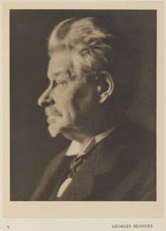 George Brandes, by Alvin Langdon Coburn, published by  Duckworth & Co - NPG Ax7849