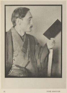 Yone Noguchi, by Alvin Langdon Coburn, published by  Duckworth & Co, 14 December 1913 - NPG Ax7853 - © The Universal Order
