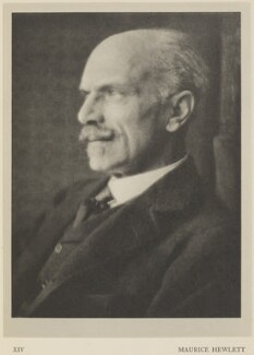 Maurice Henry Hewlett, by Alvin Langdon Coburn, published by  Duckworth & Co - NPG Ax7858