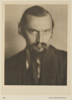 Ivan Mestrovich, by Alvin Langdon Coburn, published by  Duckworth & Co - NPG Ax7864