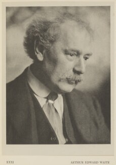 Arthur Edward Waite, by Alvin Langdon Coburn, published by  Duckworth & Co - NPG Ax7873