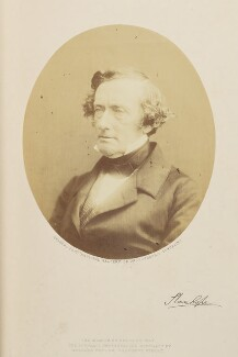 Philip Stanhope, 5th Earl Stanhope, by (George) Herbert Watkins, 1857 - NPG Ax7906 - © National Portrait Gallery, London