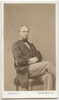 John Wodehouse, 1st Earl of Kimberley, by Mason & Co (Robert Hindry Mason), mid 1860s-early 1870s - NPG Ax8552 - © National Portrait Gallery, London