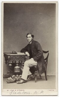 William Henry Gladstone, by Thomas McLean & Co, 1865-1868 - NPG Ax8613 - © National Portrait Gallery, London
