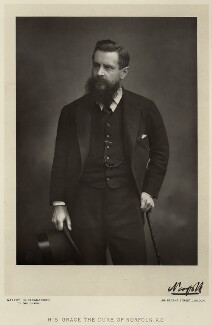 Henry Fitzalan-Howard, 15th Duke of Norfolk, by Walery, published by  Sampson Low & Co, published April 1890 - NPG Ax9157 - © National Portrait Gallery, London