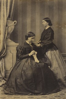 Frances Mary Wilberforce (née Anderson); Emma Theodosia Anderson, by Unknown photographer - NPG Ax9561