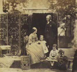 Arthur Perceval Purey-Cust with his wife and two younger children, by Unknown photographer - NPG Ax9598