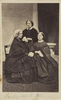 Amelia (née Pillans), Lady Ward; Amelia Maria (née Claughton), Duchess of Argyll; Hon. Julia Susannah Claughton (née Ward), by Unknown photographer - NPG Ax9623