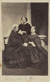 Amelia (née Pillans), Lady Ward; Amelia Maria (née Claughton), Duchess of Argyll; Hon. Julia Susannah Claughton (née Ward), by Unknown photographer, 1860s - NPG Ax9623 - © National Portrait Gallery, London