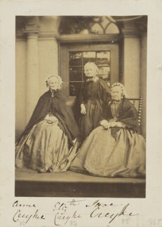 Jane Creyke; Elizabeth Creyke; Anne Creyke, by Unknown photographer - NPG Ax9648