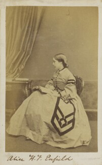 Alice Byng (née Egerton), Countess of Strafford, by Unknown photographer - NPG Ax9708