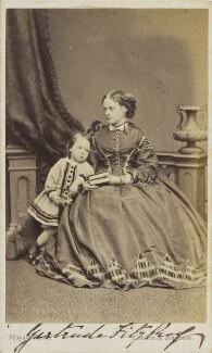 Helen Newton (née Fitzroy); Hon. Mrs G. Fitzroy (née Duncombe); Francis Horatio Fitzroy, by John Jabez Edwin Mayall - NPG Ax9724