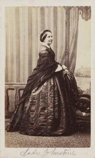 Louisa Augusta (née Harcourt), Lady Vanden-Bempde-Johnstone, by Unknown photographer, 1860s - NPG Ax9736 - © National Portrait Gallery, London