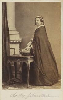 Louisa Augusta (née Harcourt), Lady Vanden-Bempde-Johnstone, by Southwell Brothers, 1860s - NPG Ax9739 - © National Portrait Gallery, London