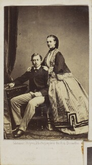 Queen Alexandra; King Edward VII, by Ghémar Frères - NPG Ax9754
