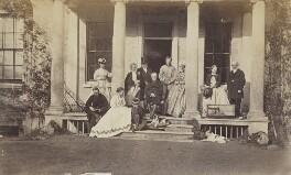 Samuel Wilberforce; Albert Basil Orme Wilberforce; Charlotte Wilberforce (née Langford); Ernest Roland Wilberforce, by Unknown photographer - NPG Ax9762