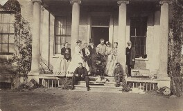 Samuel Wilberforce; Albert Basil Orme Wilberforce; Charlotte Wilberforce (née Langford); Ernest Roland Wilberforce, by Unknown photographer - NPG Ax9765