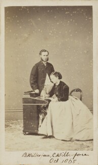 Charlotte Wilberforce (née Langford); Albert Basil Orme Wilberforce, by Unknown photographer, October 1865 - NPG Ax9772 - © National Portrait Gallery, London