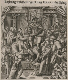 'Reign of King Henry VIII' (Thomas Cromwell, Earl of Essex, Thomas Cranmer, John Fisher, Pope Clement VII (Giulio de' Medici), King Henry VIII, Reginald Pole), after Unknown artist - NPG D9467