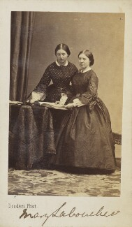 Hon. Mary Stanley (née Labouchere); Hon. Mina Frances Labouchere Ellis, by Disdéri - NPG Ax9862