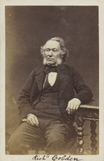 Richard Cobden, by Adolphe Paul Auguste Beau - NPG Ax9906