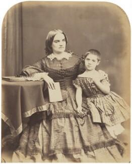 Josefa Gassier (née Fernandez) with an unknown child, by Herbert Watkins - NPG P301(46)