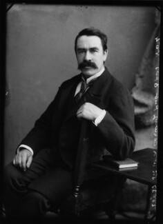 (William) Martin Conway, 1st Baron Conway of Allington, by Alexander Bassano - NPG x1055
