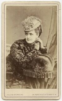 Carlotta Addison (Mrs Charles La Trobe), by Hills & Saunders - NPG x11
