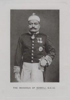 Sir Venkata Svetachalapati Ranga Row, Maharaja of Bobbili, by Unknown photographer - NPG x1124