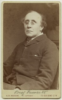 Henry Fawcett, by Alexander Bassano, 1883 - NPG x11889 - © National Portrait Gallery, London