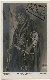 Arthur Bourchier as Shylock in 'The Merchant of Venice', by Alexander Corbett, for  Alfred Ellis & Walery, published by  J. Beagles & Co - NPG x1189