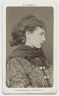 Sarah Bernhardt, by Alphonse J. Liébert (Liibert) - NPG x1190