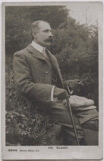 Sir Edward Elgar, Bt, published by Rotary Photographic Co Ltd, 1900s - NPG x11904 - © National Portrait Gallery, London