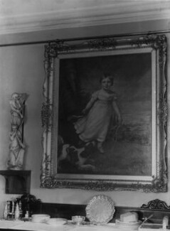 View of James Northcote's painting of John Ruskin in John Ruskin's home, by John McClelland - NPG x12197