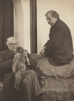 Augustine Birrell; Clement King Shorter, by Olive Edis - NPG x12402