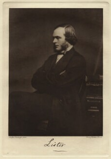 Joseph Lister, Baron Lister, by John Moffat, published by  Emery Walker Ltd - NPG x12429