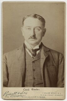 Cecil John Rhodes, by James Russell & Sons, circa 1880s - NPG x12453 - © National Portrait Gallery, London