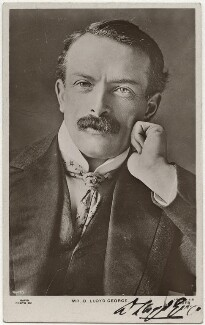 David Lloyd George, by Reginald Haines, published by  Rapid Photo Co - NPG x12477