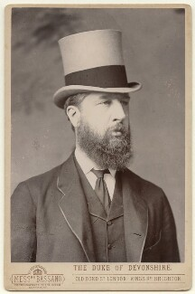 Spencer Compton Cavendish, 8th Duke of Devonshire, by Alexander Bassano - NPG x12548
