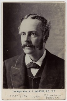 Arthur James Balfour, 1st Earl of Balfour, by Elliott & Fry, 1889 - NPG x12549 - © National Portrait Gallery, London