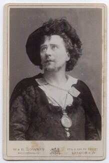 Sir Herbert Beerbohm Tree as Hamlet, by W. & D. Downey - NPG x12557