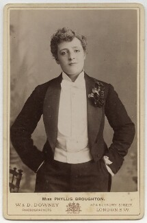 Phyllis Broughton as Lord Clanside in 'In Town', by W. & D. Downey - NPG x12563