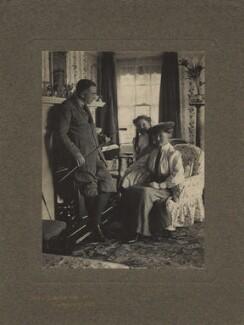 Edward Philips Oppenheim; Geraldine Smith (née Oppenheim); Elsie Clara Oppenheim (née Hopkins), by Olive Edis - NPG x12615