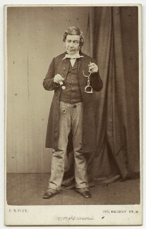 Edward Atkins as James Dalton in 'The Ticket-of-Leave Man', by The Album Portrait Company, circa 1863 - NPG x127 - © National Portrait Gallery, London