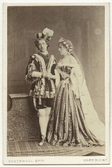 Harriet Pelham as Prince Lollius; Ada Cavendish (later Marshall) as Princess Superba in 'Rumpelstiltskin', by Southwell Brothers - NPG x12716