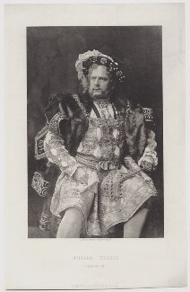 William Terriss (William Charles James Lewin) as the King in 'Henry VIII', by Swan Electric Engraving Co., after  Unknown photographer, 1892 - NPG  - © National Portrait Gallery, London